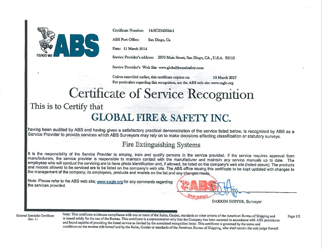 ABS Fire System San Diego