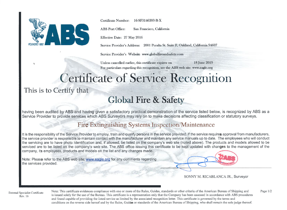 ABS Fire System Oakland