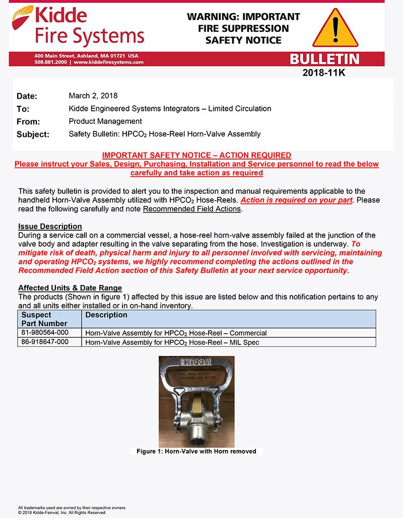 2018-11K_Safety_CO2-Hose-Reel-Horn-Valve-Assembly