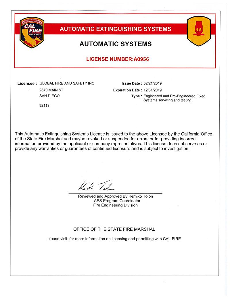 CA AES Engineered System San Diego