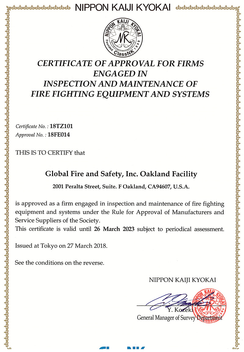 Class NK Approval Oakland