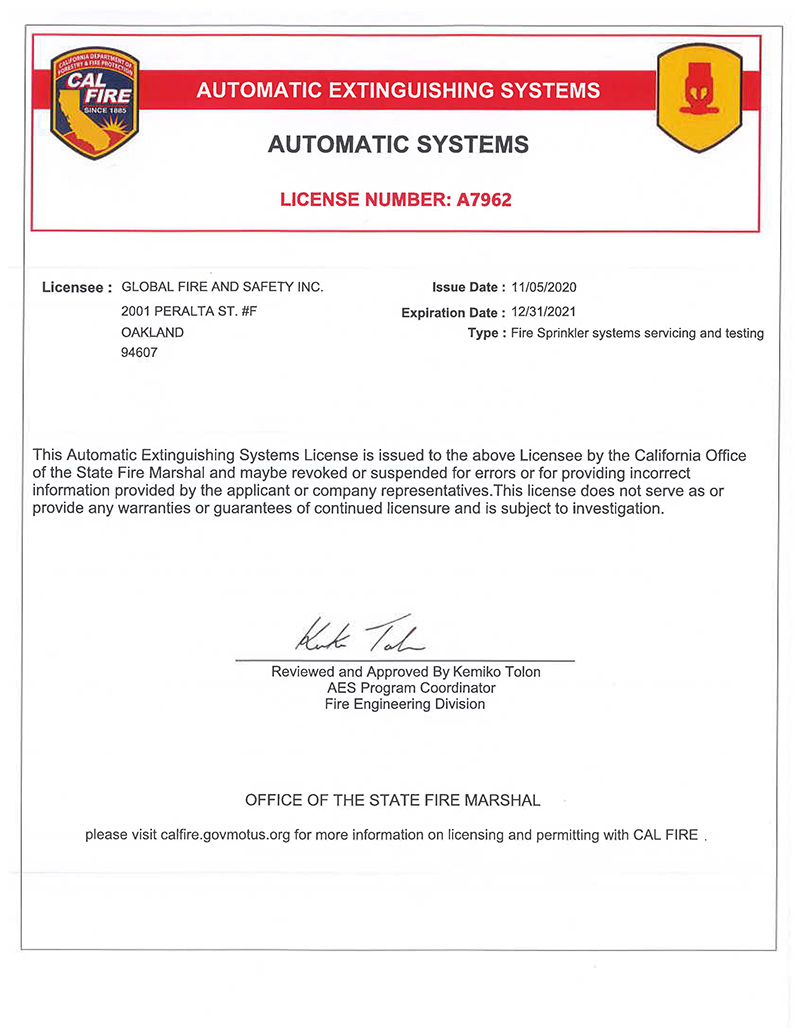 A7962 - CA Oakland Sprinkler Systems